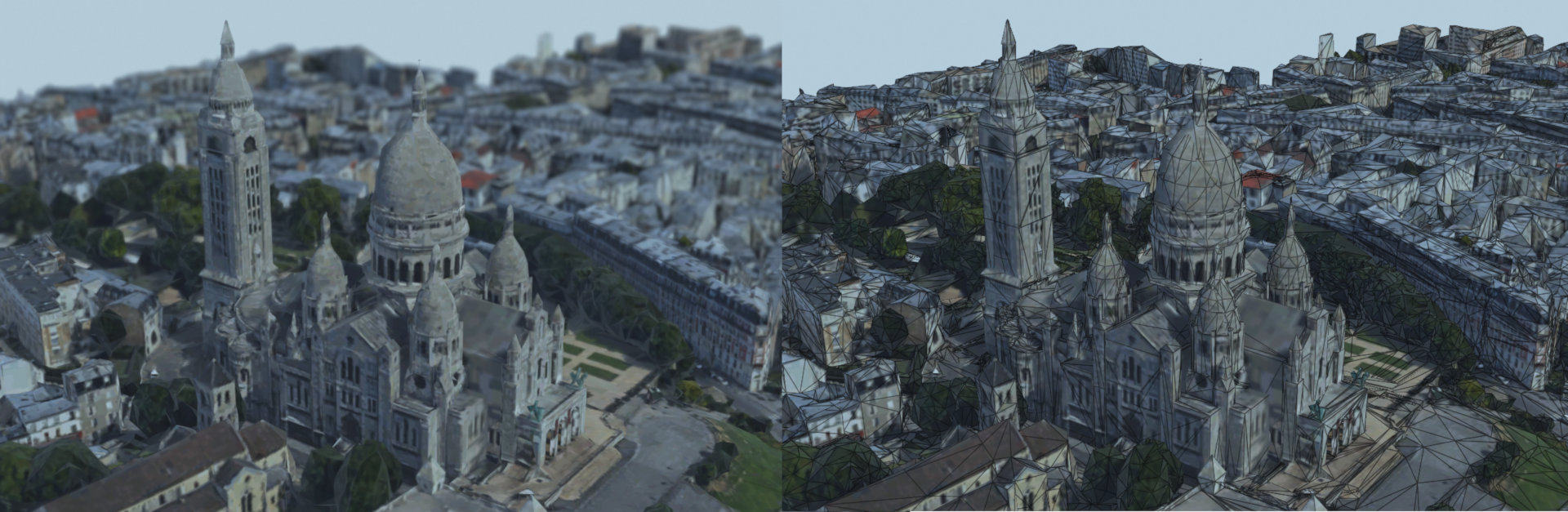 Sacré-coeur imported in Blender