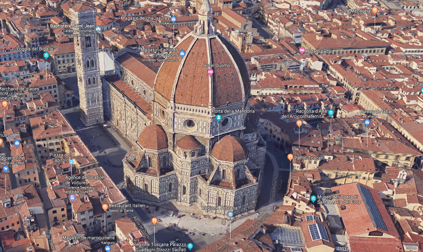 San Maria del Fiore in Google Maps