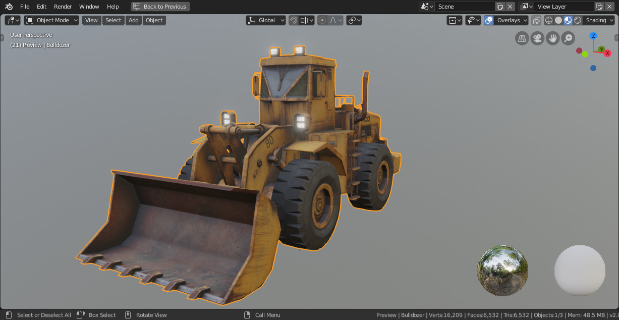 Final model extracted into Blender